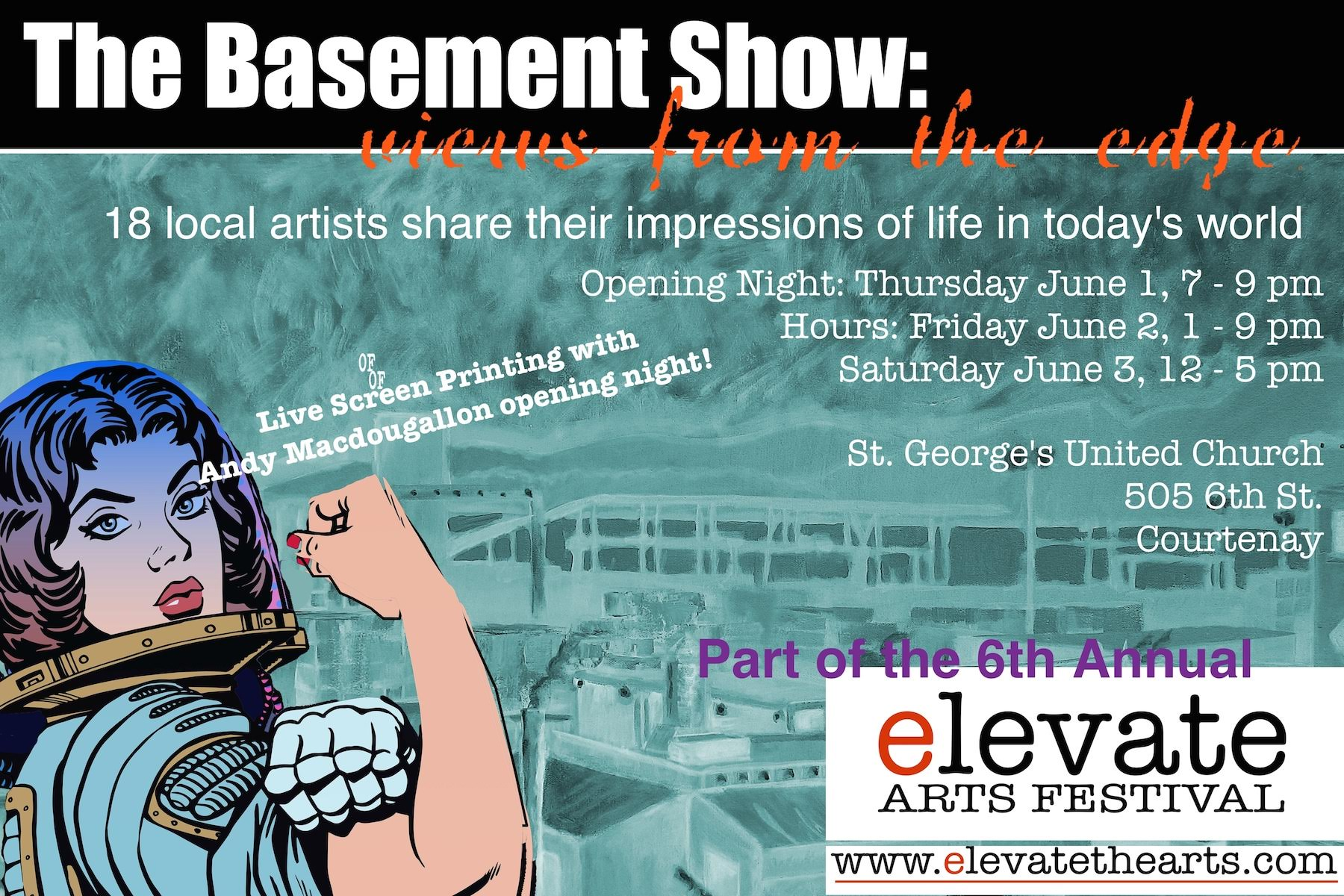the basement show view from the edge